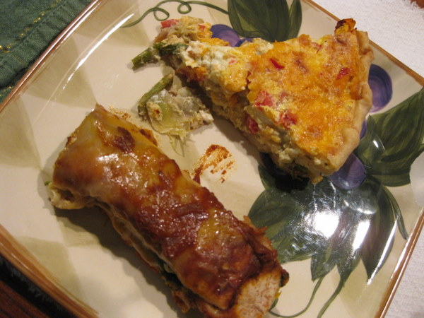 enchiladas and quiche
