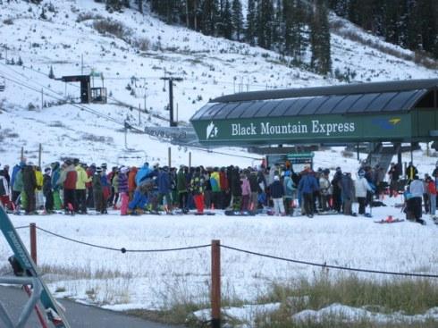crowd black mountain express