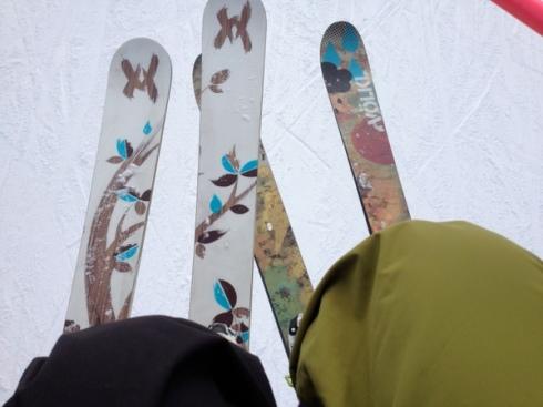 skis on lift loveland