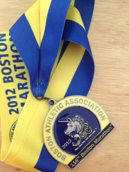 Boston finishers medal